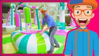 Learning Colors with Blippi at an Indoor Playground Play Place