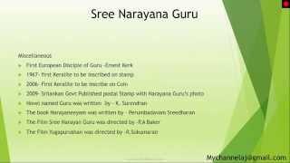 Kerala Renaissance - Sree Narayana Guru