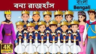 বন্য রাজহাঁস | Wild Swan in Bengali | Bangla Cartoon | Bengali Fairy Tales