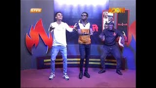 Kuami Eugene & Kidi dance with the Fireman Songo (4-10-18)