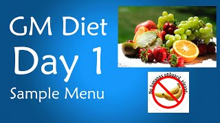 GM Diet Day 1 Menu: List of Foods to Eat