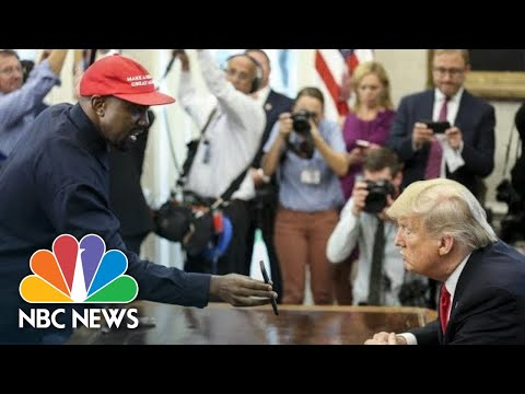 Xxx Mp4 Full Video Kanye West's Meeting With President Donald Trump At The White House NBC News 3gp Sex