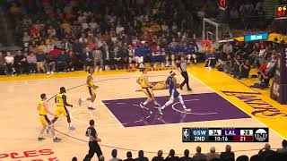 3rd Quarter, One Box Video: Los Angeles Lakers vs. Golden State Warriors