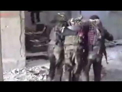 Syria. Syrian Army Sniper Shot FSA terrorist