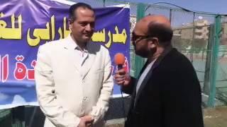 نير ضوه بطل العالم السابق في كرة السرعة مع حسام جبر