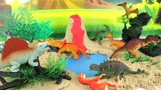 Dinosaurs Mini Beach Volcano T Rex  Learn Dinosaur Names Sound For Kids Toys DIY  Learn Kinetic Sand