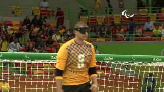Day 2 evening | Goalball highlights | Rio 2016 Paralympic Games