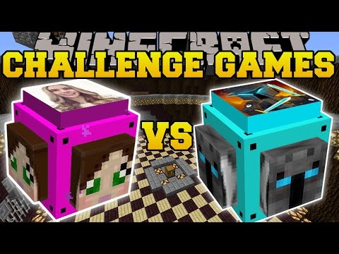 Minecraft: POPULARMMOS VS GAMINGWITHJEN CHALLENGE GAMES - Lucky Block Mod - Modded Mini-Game