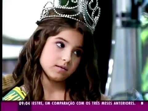 Juliê Rodrigues Mini Miss Brasil 2011 no Mais Você 19 05 2011