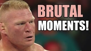 WWE Brock Lesnar BRUTAL Moments,Fights,Attacks and ANGRY moments