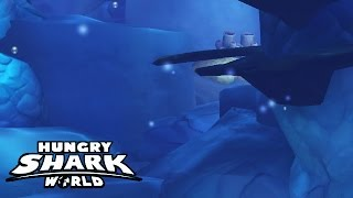 Hungry Shark World - Funny Glitch - Invisible Shark