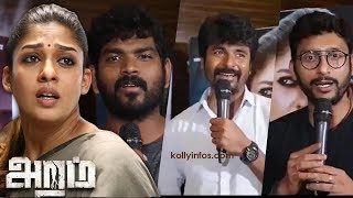 Celebrities Opinion Aramm Movie | Sivakarthikeyan | Vignesh Shivan | RJ Balaji