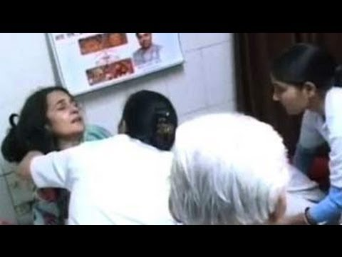 Xxx Mp4 Haryana Minister Kiran Chaudhary Attacked During Campaigning 3gp Sex