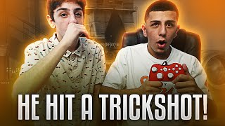 TEACHING MY BROTHER HOW TO TRICKSHOT!!