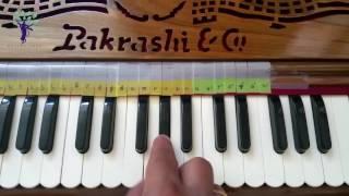 Harmonium Tutorials on Vaishnav Bhajans Sa13 Hare Krishna Rag Gujari Todi Morning Anant Nitai