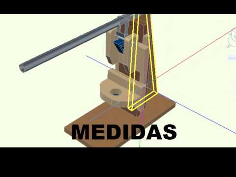 SOPORTE VERTICAL PARA TALADRO detallado en 3D