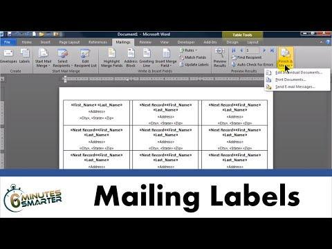 Use Mail Merge to Create Mailing Labels in Word from an Excel Data Set
