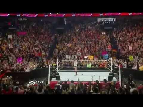 Daniel Bryan celebrates his WWE World Heavyweight Championship - [RAW 1 7 14]