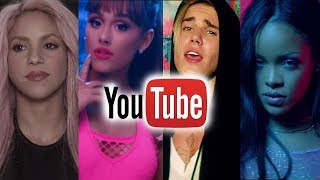 Music artists with most views on youtube