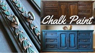 DIY Dresser Makeover w/ Annie Sloan Chalk Paint Aubusson Blue