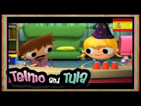 Telmo y Tula Botellas Multicolor dibujos animados aprender manuales