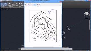 Beginner Tutorial 4 - Autodesk AutoCad 2016 - Designing Isometric Objects