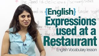 English expressions used at a restaurant - Advance English lesson