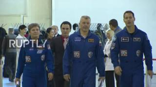 Russia: Main and backup crews of Soyuz MS-03 spacecraft hold pre-flight training