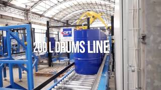 CFT Group's complete line for lube oil in drums (up to 200 L)