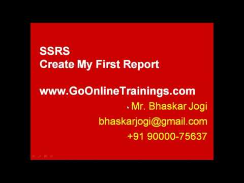 SSRS Part2 - Create My First Report and Report Server Configuration