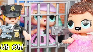 L.O.L. Surprise! Dolls Locked Up in Jail Rescue Game Jealous Glitter Pranksta Lil Sisters Unboxed!