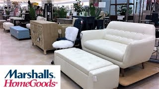 MARSHALLS HOME GOODS FURNITURE SOFAS LOVESEATS CHAIRS - SHOP WITH ME SHOPPING STORE WALK THROUGH 4K