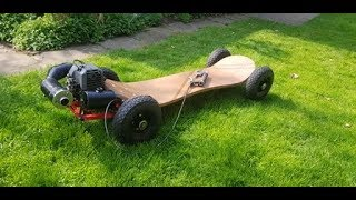 EPIC Homemade GAS POWERED off road Skateboard 35MPH build+test