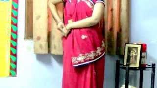 Gujrati Style Saree drape - How to wear Sari in Gujarati Style