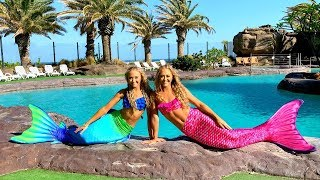 MERMAIDS in the POOL for a DAY!