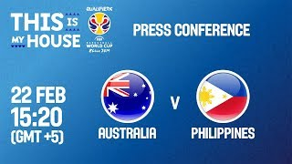 Australia v Philippines - Press Conf - FIBA Basketball World Cup 2019 - Asian Qualifiers