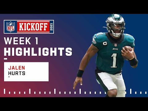 Jalen Hurts Highlights vs. Falcons NFL 2021