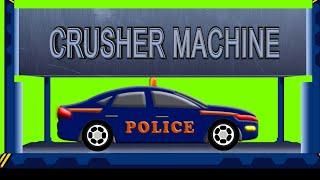 Police Car | Dump Yard | Crusher Machine | Kids Car Smashing Toys