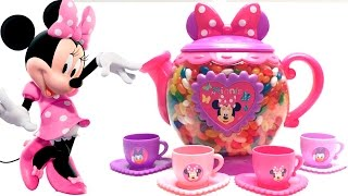 Minnie Mouse Tea Play Set Rainbow Dipping Dots Surprise Eggs Videos Juguetes de Minnie Mouse Disney