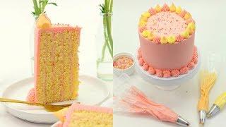 Vertical Cake! Passionfruit Mango and Raspberry Cake Recipe