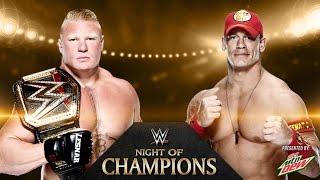 John Cena vs. Brock Lesnar - I Quit Match WWE World Heavyweight Championship Night Of Champions 2014