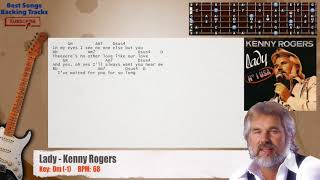 Lady - Kenny Rogers Guitar Backing Track with chords and lyrics