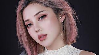 Pink Gold Glittery Make up (With subs) 핑크 골드 글리터리 메이크업