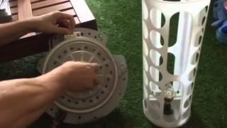 ทดสอบมอเตอร์เครื่องซักผ้ากับหลอด LED 220V แค่หมุนนิดเดียวก็หลอดติดแล้วครับ