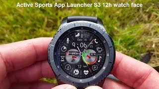 Samsung Gear S3 Active Sports App Launcher Watch Face with Speedometer, Stopwatch, Timer, S Health