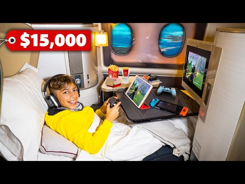 Traveling FIRST CLASS To DUBAI 15 000 Seat The Royalty Family