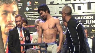 Manny Pacquiao / Timothy Bradley Weigh-In [Full]