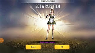 HOW TO GET BATTLE MAID BUNDLE IN GOLD ROYALE? || FREE FIRE LUCK ROYALE TRICK