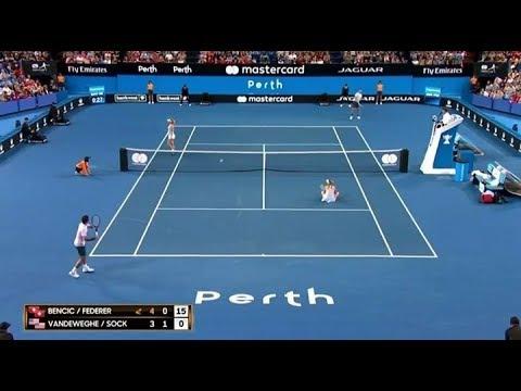 Xxx Mp4 Bencic Federer Vs Vandeweghe Sock Hopman Cup 2018 Funny Moments 3gp Sex