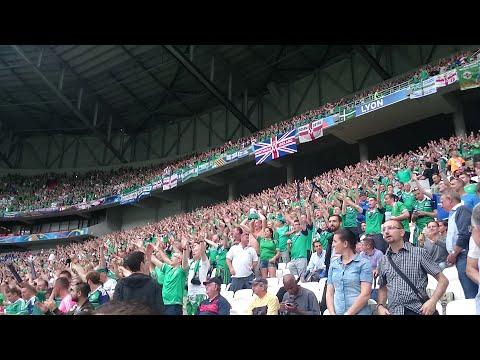 """Northern Ireland fans singing """"Sweet Caroline"""" (GAWA - Euro 2016 - Lyon)"""